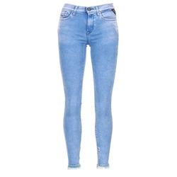 textil Dam Jeans 3/4 & 7/8 Replay JOI Blå