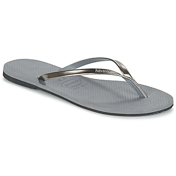 Skor Dam Flip-flops Havaianas YOU METALLIC Grå