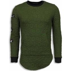 textil Herr Sweatshirts Justing D Numbered Pocket Long Fit TG Grön