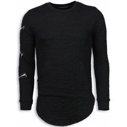 textil Herr Sweatshirts Justing D Numbered Pocket Long Fit TZ Svart