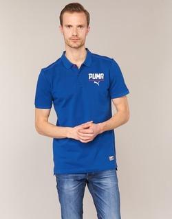 textil Herr Kortärmade pikétröjor Puma STYLE TEC POLO Blå