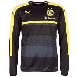 textil Herr Sweatshirts Puma BVB TRAINING SWEAT Svart / Gul
