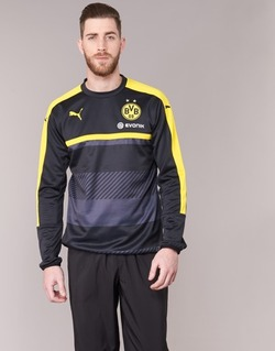 textil Herr Sweatshirts Puma BVB TRAINING SWEAT Svart / Gul