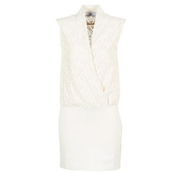 textil Dam Korta klänningar Le Temps des Cerises SHERY Vit
