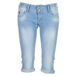 textil Dam Jeans 3/4 & 7/8 Le Temps des Cerises CHRISTIA Blå / Ljus