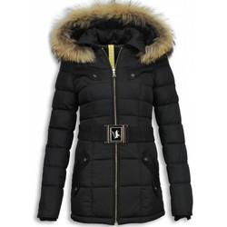textil Dam Täckjackor Milan Ferronetti Kvinnors Vinterjacka Halv Black On Black Edition Svart