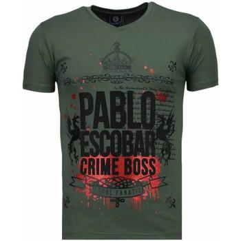 textil Herr T-shirts Local Fanatic Pablo Escobar Boss Rhinestone Grön