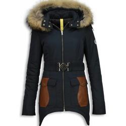 textil Dam Täckjackor Milan Ferronetti Ladies Fur Coat Jackor Vinter RB Blå