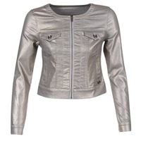 textil Dam Jeansjackor Les P'tites Bombes OMILATE Silver
