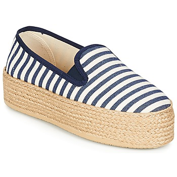 Skor Dam Espadriller Betty London GROMY Marin / Vit