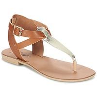 Skor Dam Sandaler Betty London VITAMO Kamel / Guldfärgad