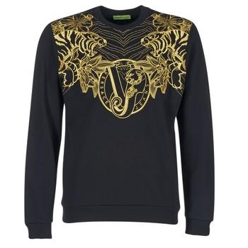 textil Herr Sweatshirts Versace Jeans B7GPB7F0 Svart