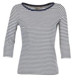 textil Dam Långärmade T-shirts Vero Moda MARLEY Marin / Vit