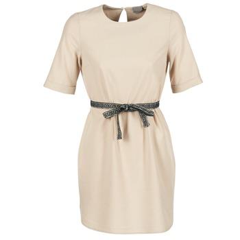 textil Dam Korta klänningar Vero Moda MILO SUKI Beige