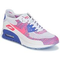 Skor Dam Sneakers Nike AIR MAX 90 FLYKNIT ULTRA 2.0 W Vit / Blå / Rosa