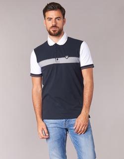 textil Herr Kortärmade pikétröjor Emporio Armani EA7 TENNIS CLASSIC Marin / Vit