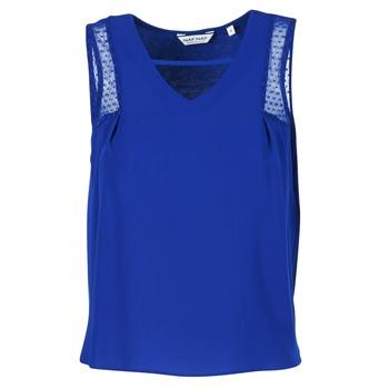 textil Dam Linnen / Ärmlösa T-shirts Naf Naf OPIPA Blå