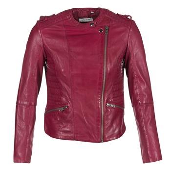 textil Dam Skinnjackor & Jackor i fuskläder Naf Naf CRISCA Bordeaux
