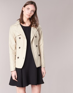 textil Dam Trenchcoats Only MARIA SHORT Beige