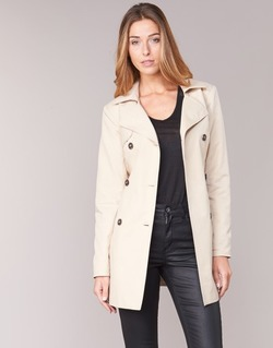 textil Dam Trenchcoats Only MARIA LONG Beige