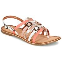 Skor Dam Sandaler Kickers DIXMILLE Silver / Rosa / Vit