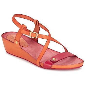 Skor Dam Sandaler Kickers TASTE Orange / Röd