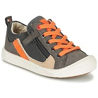 Skor Pojk Sneakers Kickers ZIGZAGUER Grå / Orange