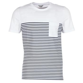 textil Herr T-shirts Jack & Jones APRIL CORE Vit / Marin