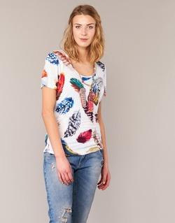 textil Dam T-shirts Derhy JACQUOT Vit / Flerfärgad
