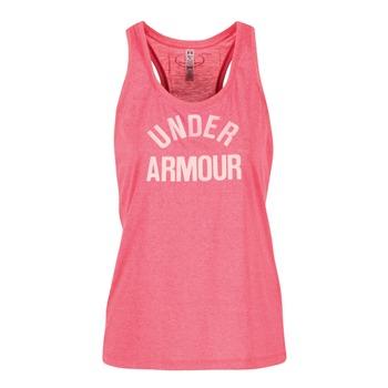 textil Dam Linnen / Ärmlösa T-shirts Under Armour THREADBORNET TWIST GRAPHIC Rosa