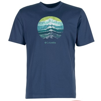 textil Herr T-shirts Columbia CSC MOUNTAIN SUNSET Blå