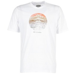textil Herr T-shirts Columbia CSC MOUNTAIN SUNSET Vit