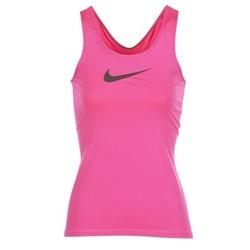 textil Dam Linnen / Ärmlösa T-shirts Nike NIKE PRO COOL TANK Rosa