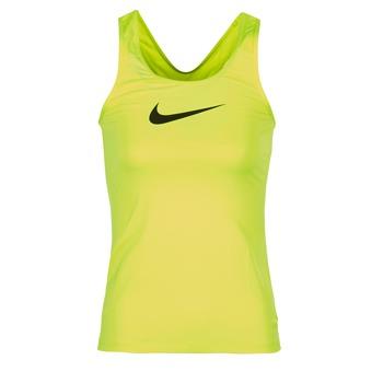 textil Dam Linnen / Ärmlösa T-shirts Nike NIKE PRO COOL TANK Gul