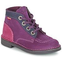 Skor Flick Boots Kickers KICK COLZ Violett / Marin / Rosa