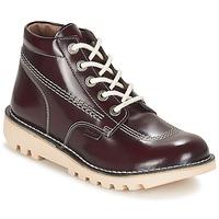 Skor Dam Boots Kickers NEORALLYE Bordeaux