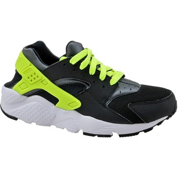 Skor Barn Sneakers Nike Huarache Run Gs 654275-017 Black,Green