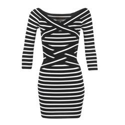 textil Dam Korta klänningar Morgan RBEST Svart / Benvit