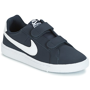 Skor Barn Sneakers Nike COURT ROYALE PRESCHOOL Blå / Vit