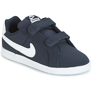 Skor Barn Sneakers Nike COURT ROYALE TODDLER Blå / Vit