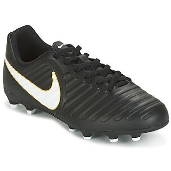 Skor Barn Fotbollsskor Nike TIEMPO RIO IV FG JUNIOR Svart / Vit