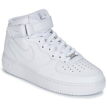 Skor Herr Höga sneakers Nike AIR FORCE 1 MID 07 LEATHER Vit