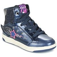 Skor Flick Höga sneakers Geox J CREAMY A Marin / Rosa