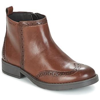 Skor Flickor Boots Geox J SOFIA F Brun
