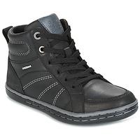 Skor Pojk Höga sneakers Geox J GARCIA B. B Svart / Grå