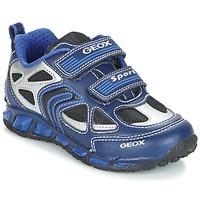 Skor Pojk Sneakers Geox J SHUTTLE B. A Marin / Blå