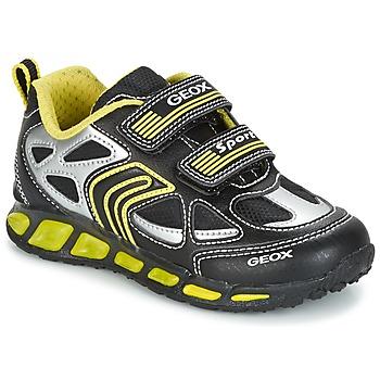 Skor Pojk Sneakers Geox J SHUTTLE B. A Svart / Gul