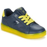 Skor Pojk Sneakers Geox J KOMMODOR B.B Marin / Gul