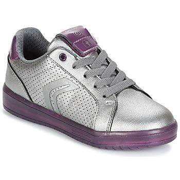 Skor Flick Sneakers Geox J KOMMODOR G.A Silver / Plommon