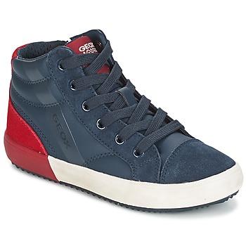 Skor Pojk Höga sneakers Geox J ALONISSO B. A Marin / Röd